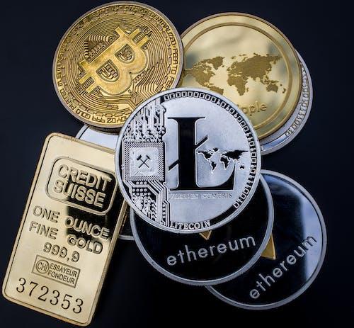 Photos gratuites de bitcoin, conc, ethereum, lingot