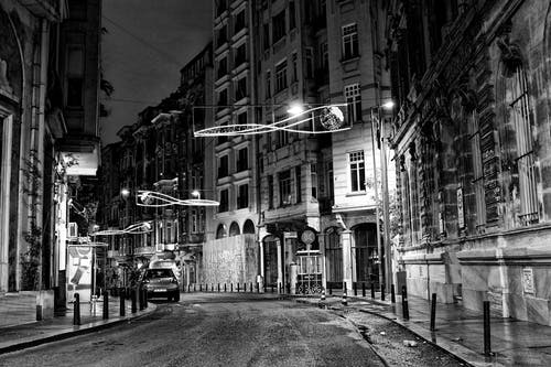 Kostenloses Stock Foto zu #street #urban #city # black & white #night #istanbul