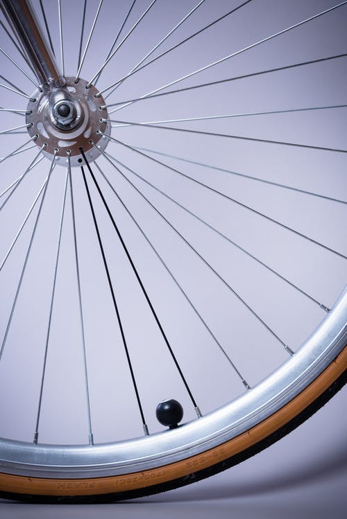 Grey Bicycle Rim