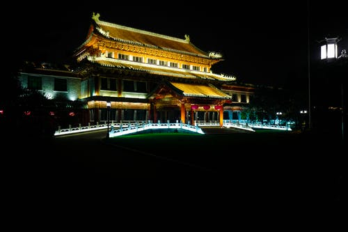 Immagine gratuita di architettura cinese, dinastia qing, notte di pechino, pechino