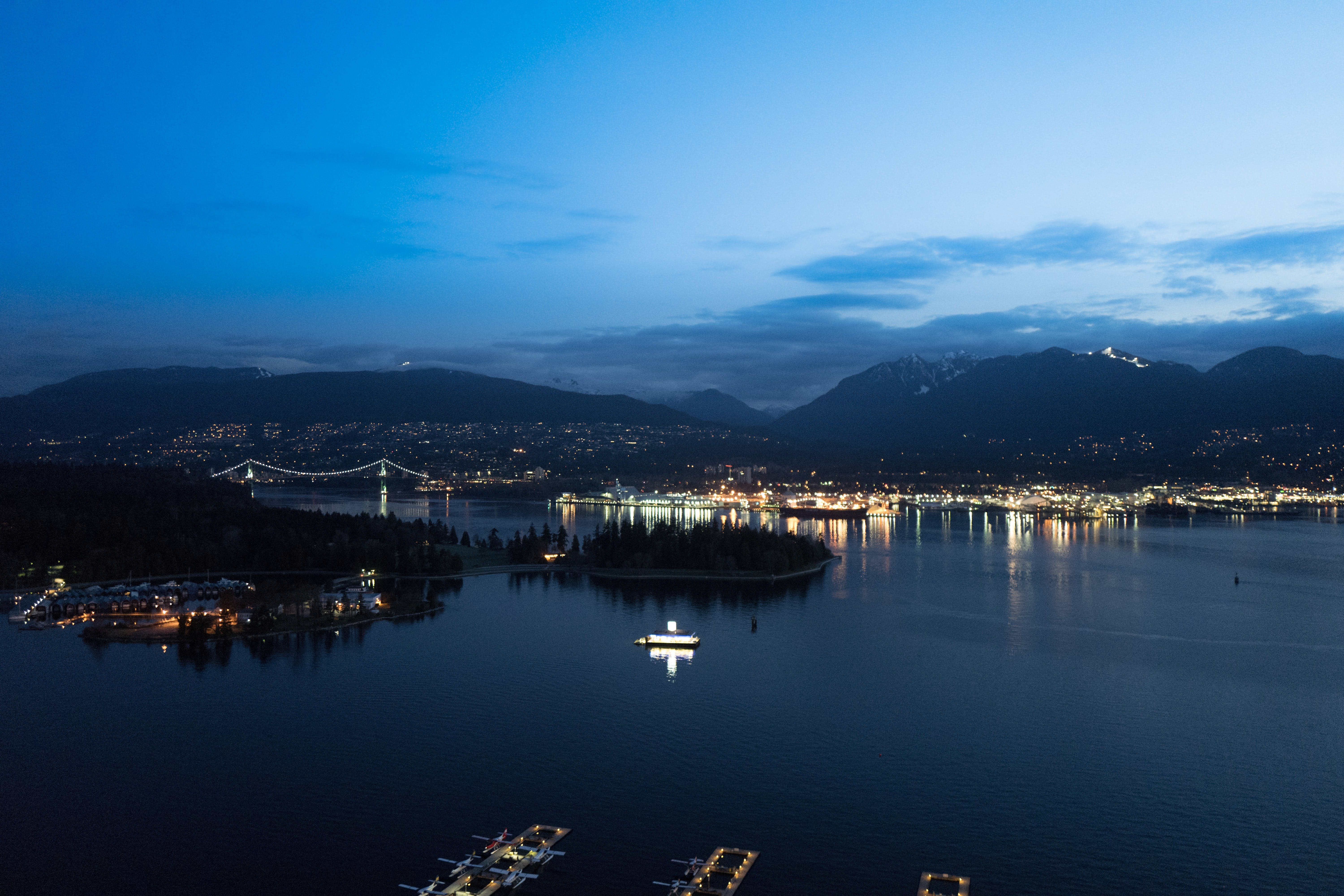 Free stock photo of dusk, vancouver, pacific ocean, Coal harbour