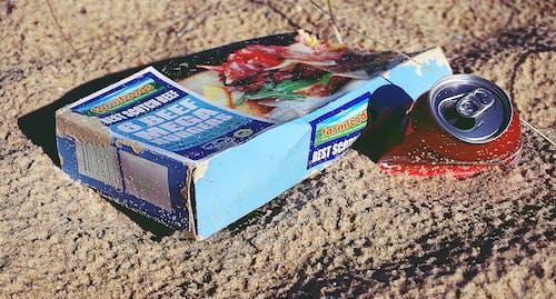 Free stock photo of beach, fastfood, garbage