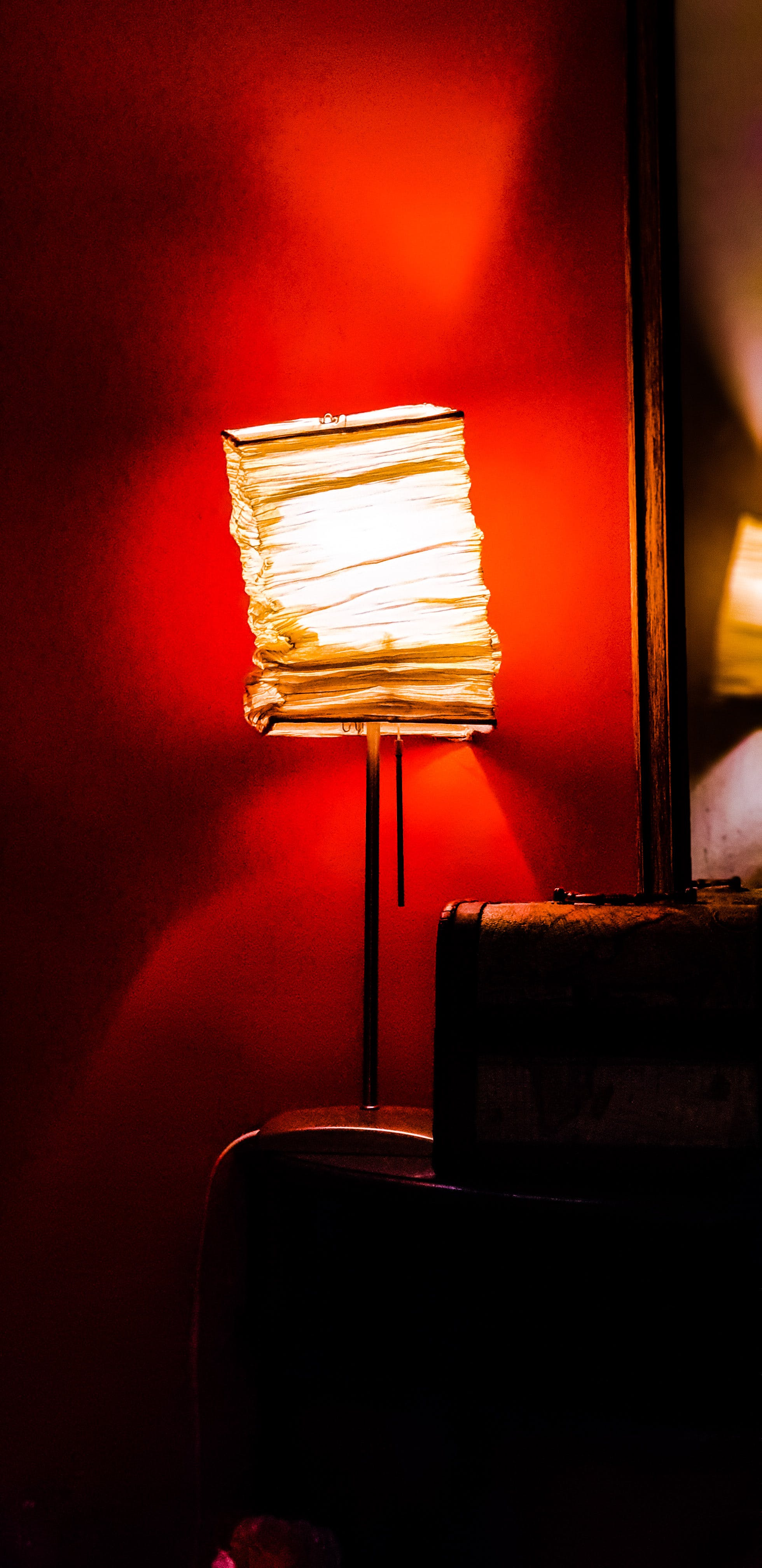 Turned on Paper Table Lamp