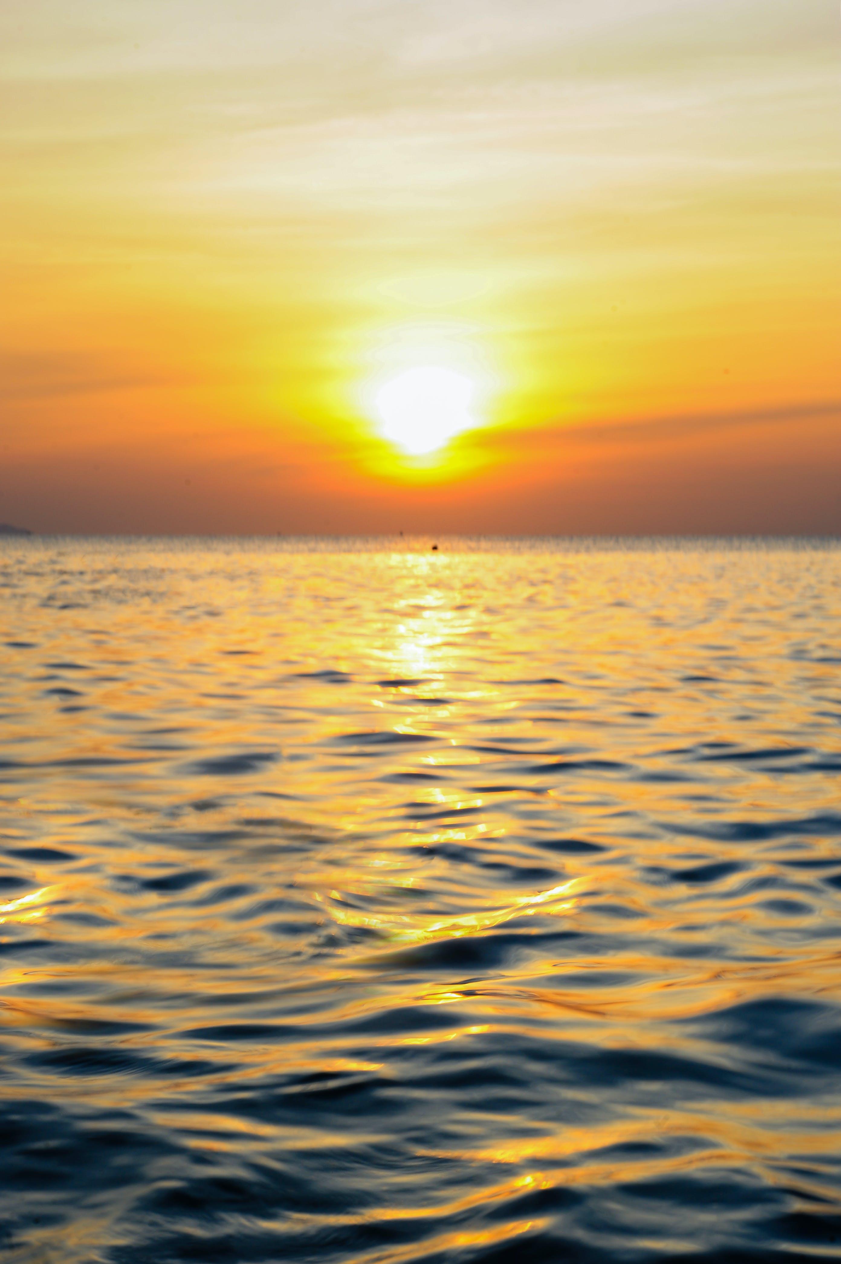Sea Under Golden Hour