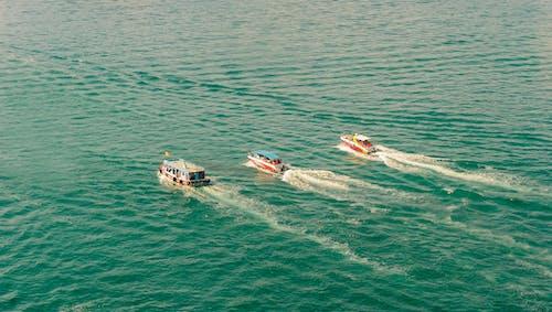 Photos gratuites de aérien, bateaux, bateaux à moteur, eau