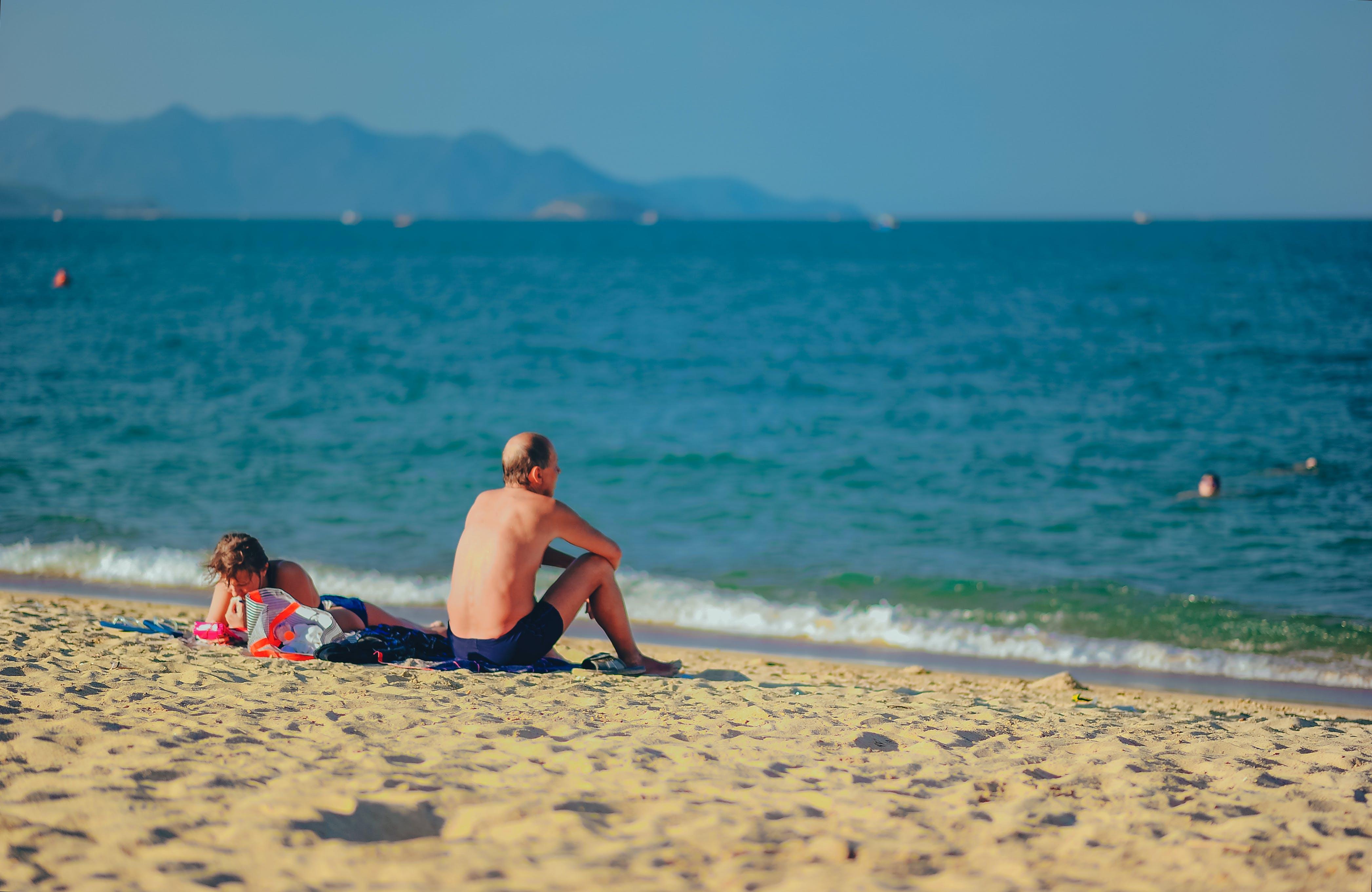 denní, dovolená, lidé