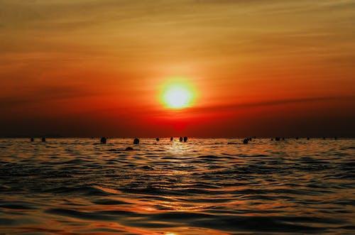 シースケープ, ダーク, ビーチ, 夕方の無料の写真素材
