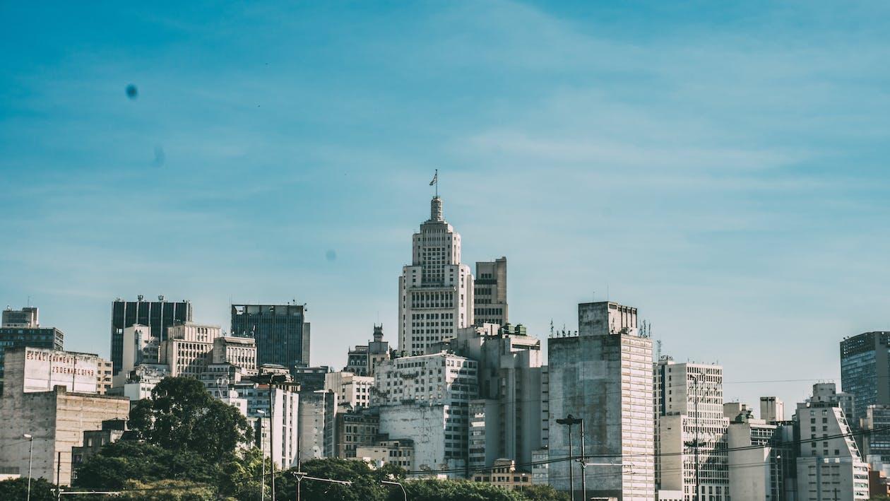 будівлі, горизонт, місто