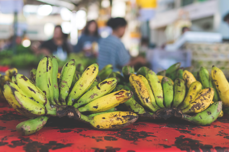 Základová fotografie zdarma na téma banán, banány, fotografie jídla, hloubka ostrosti