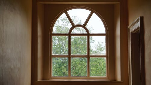 Beige Wooden Window