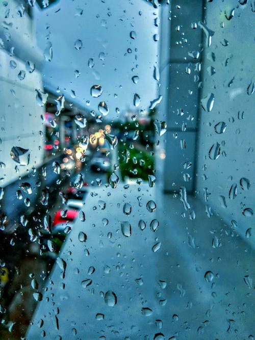 Free stock photo of after the rain, blue, cars
