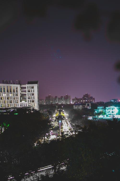 Fotobanka sbezplatnými fotkami na tému fotenie, mestské svetlá, Nikon, nočná fotografia
