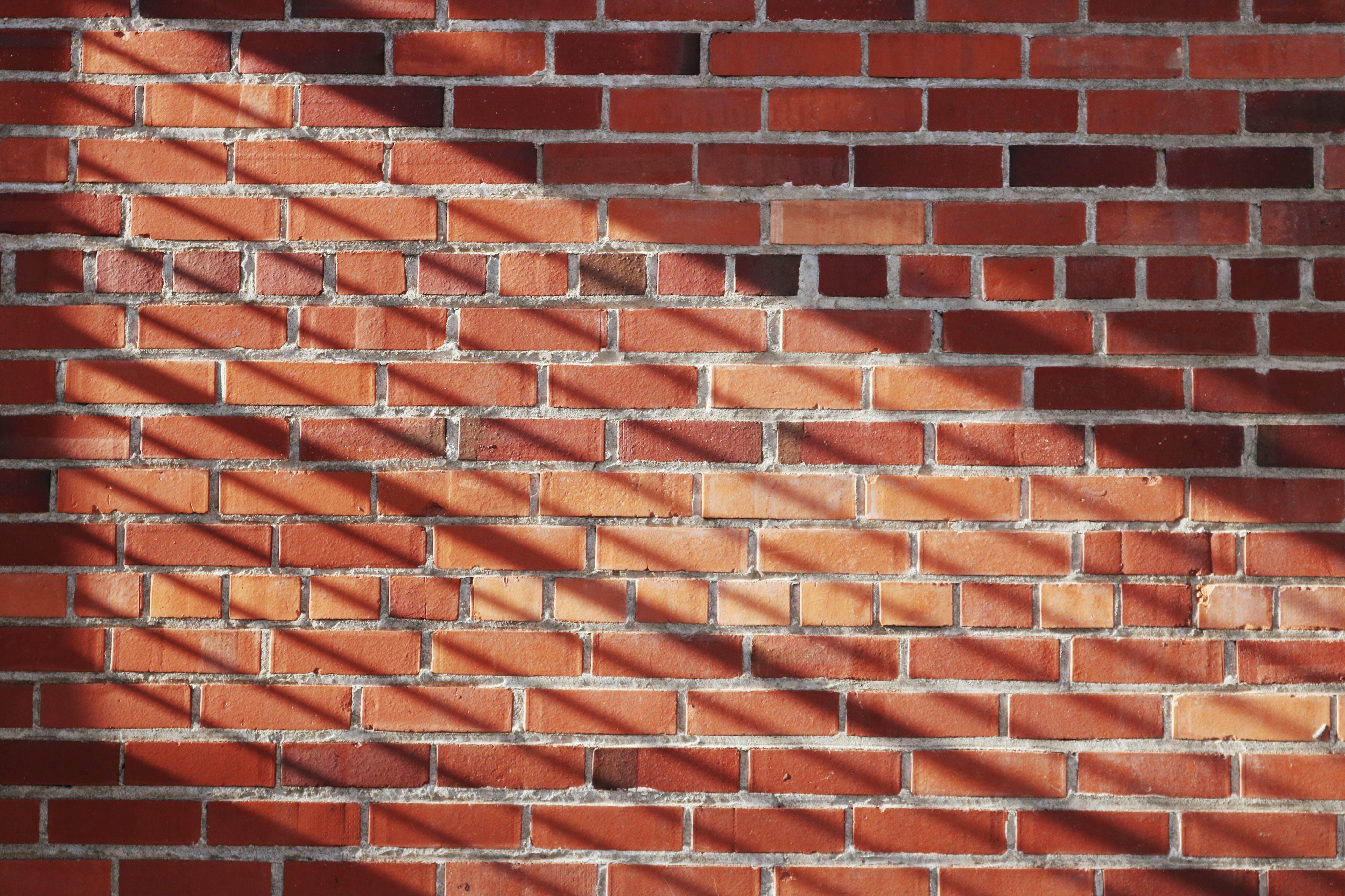 Kostenloses Stock Foto zu backsteinmauer, mauer, mauerwerk, muster