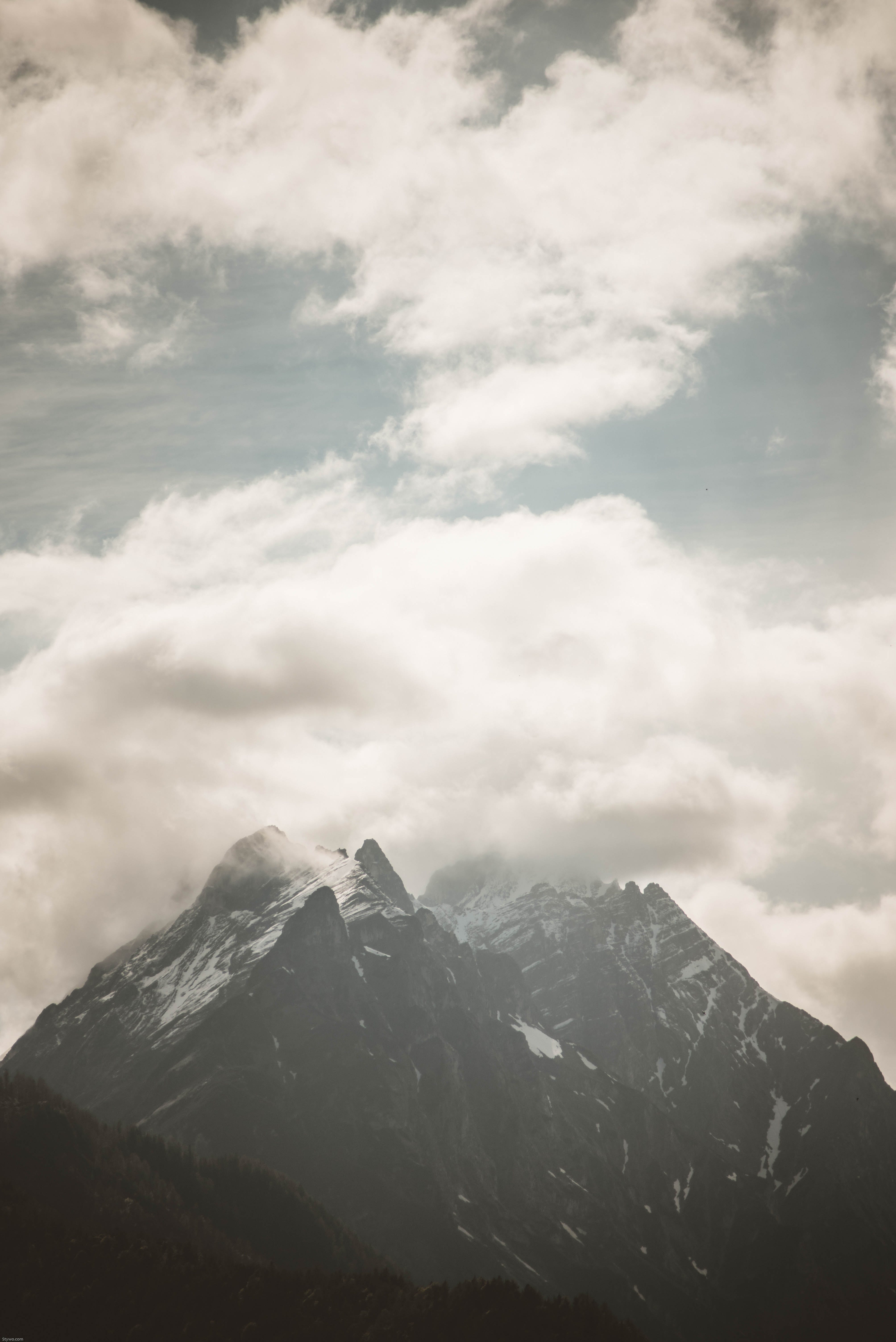 alam, awan, batu