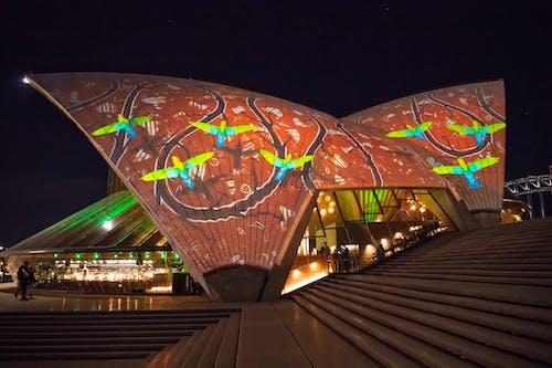 Free stock photo of sydney opera house, vivid