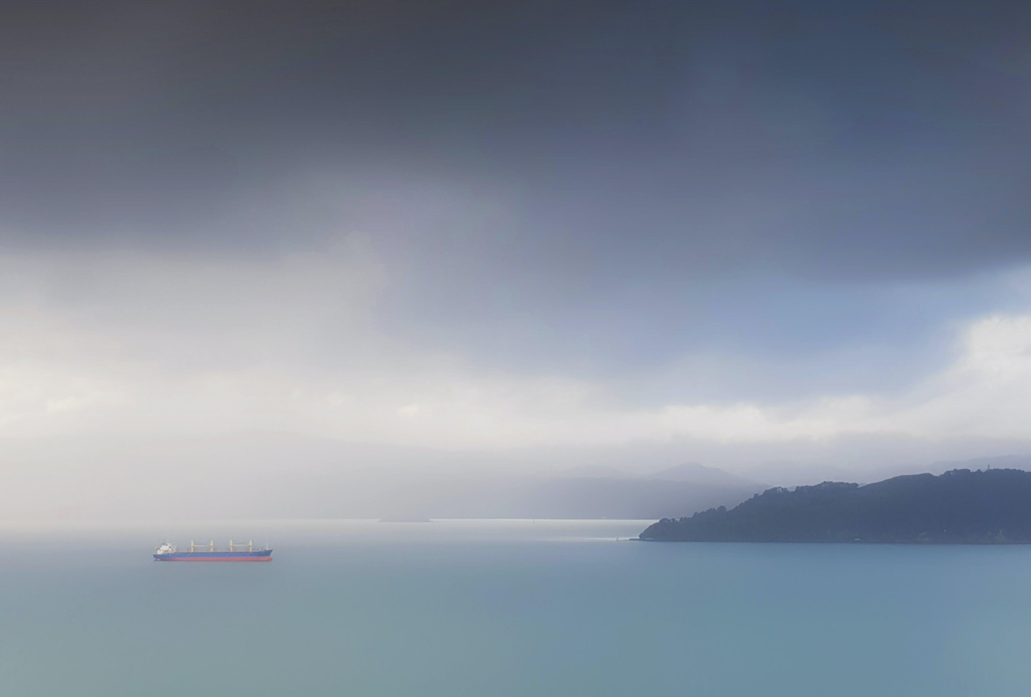 Ilmainen kuvapankkikuva tunnisteilla laiva, meri, myrsky, pilvet