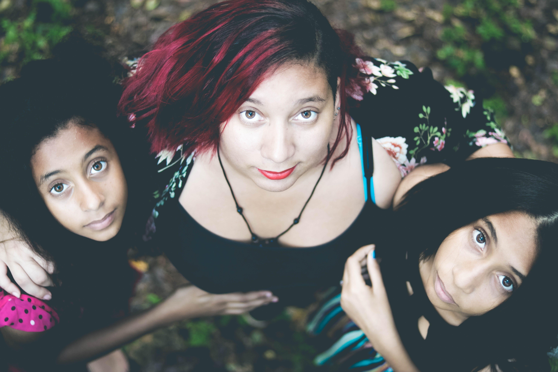 Three Woman Posing for Photo