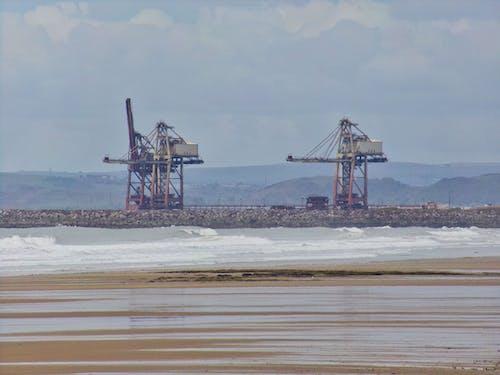 Foto stok gratis alat berat, dermaga, port talbot, Wales