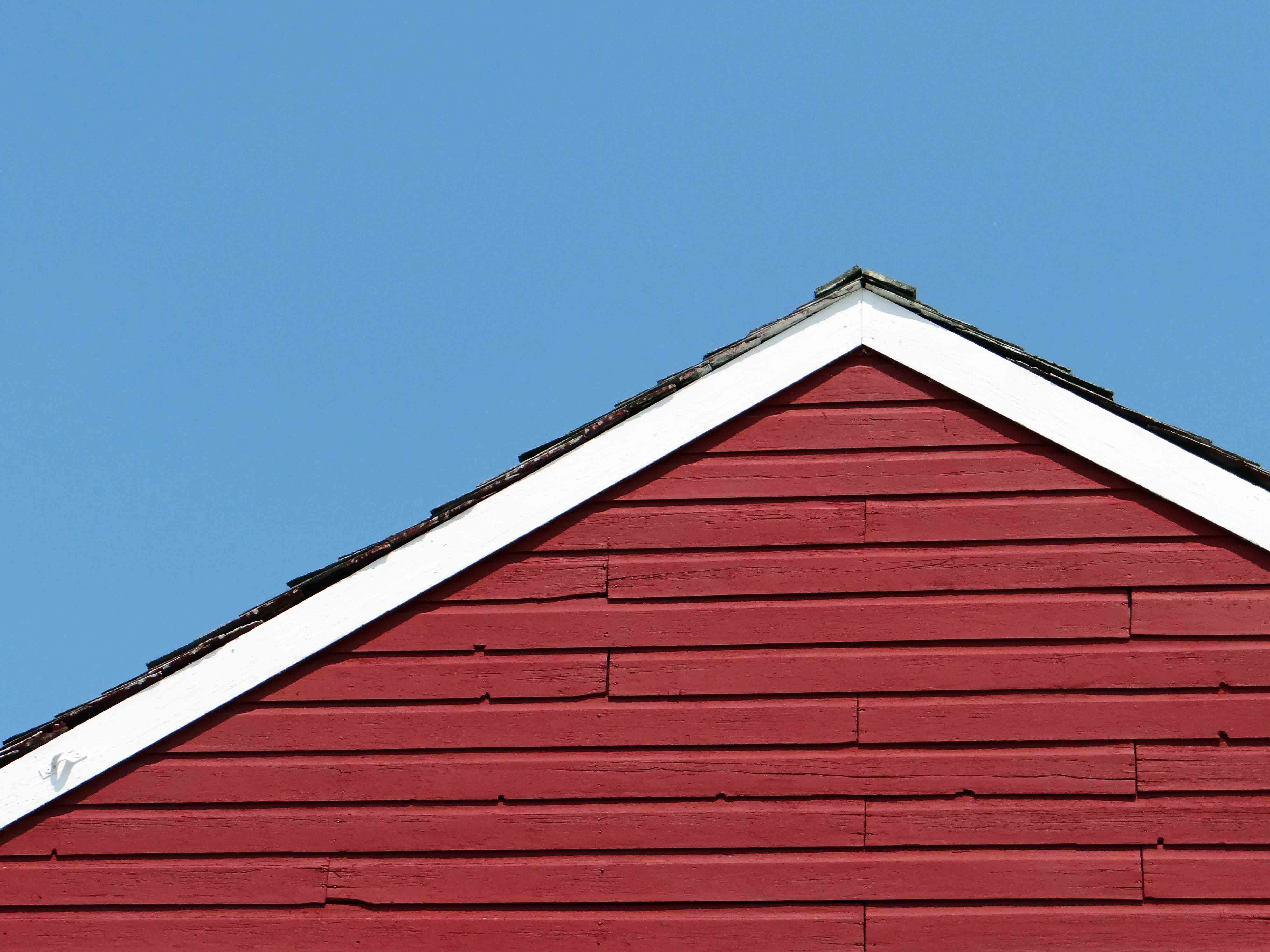 Free stock photo of artistic, blue sky, Red Building