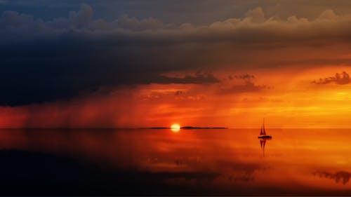 Gratis stockfoto met achtergrondlicht, dageraad, h2o, oceaan