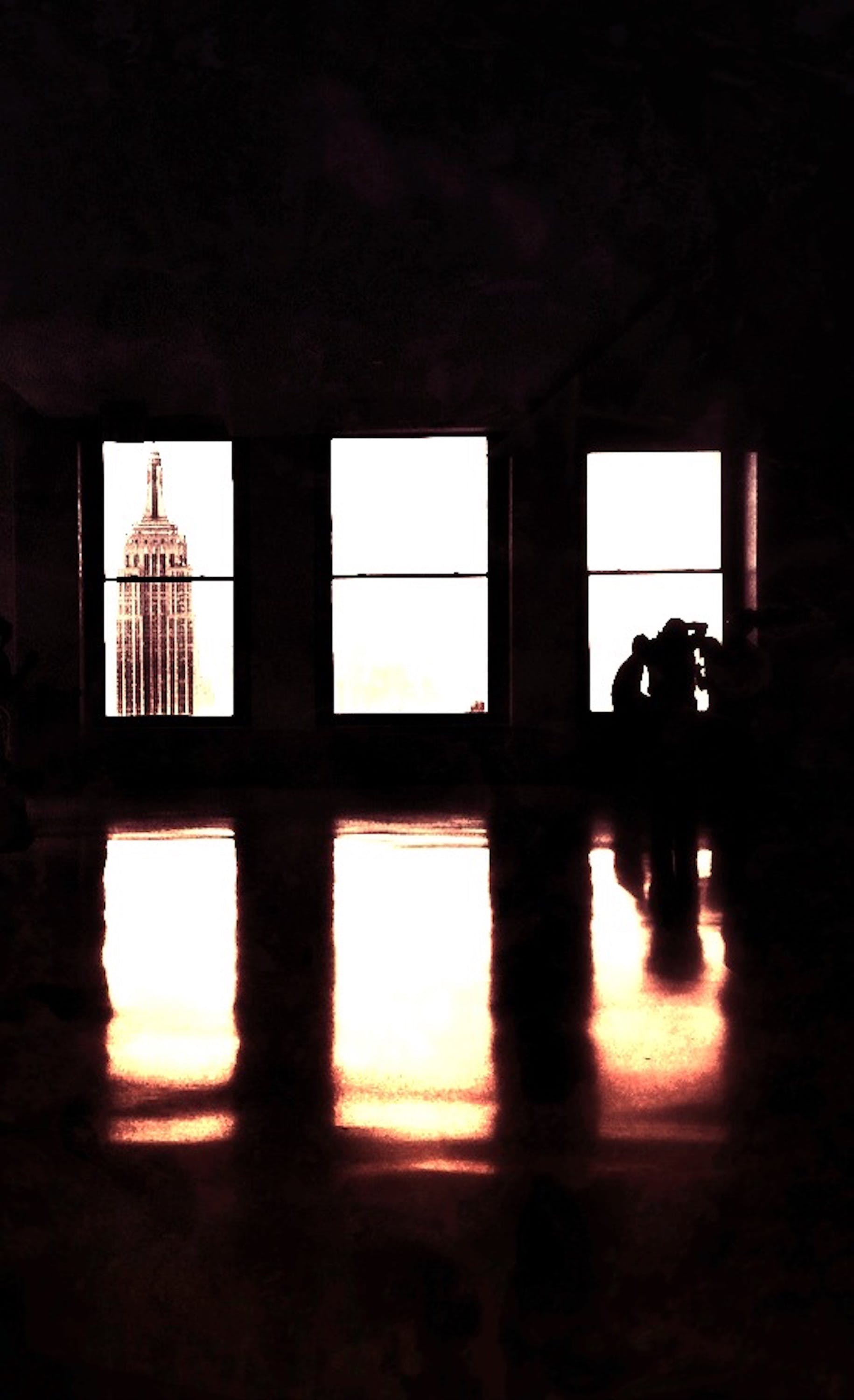 Free stock photo of black and white, empire state building, sepia, windows