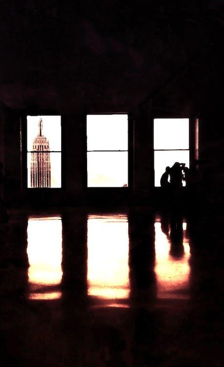 černobílá, Empire State Building, okna