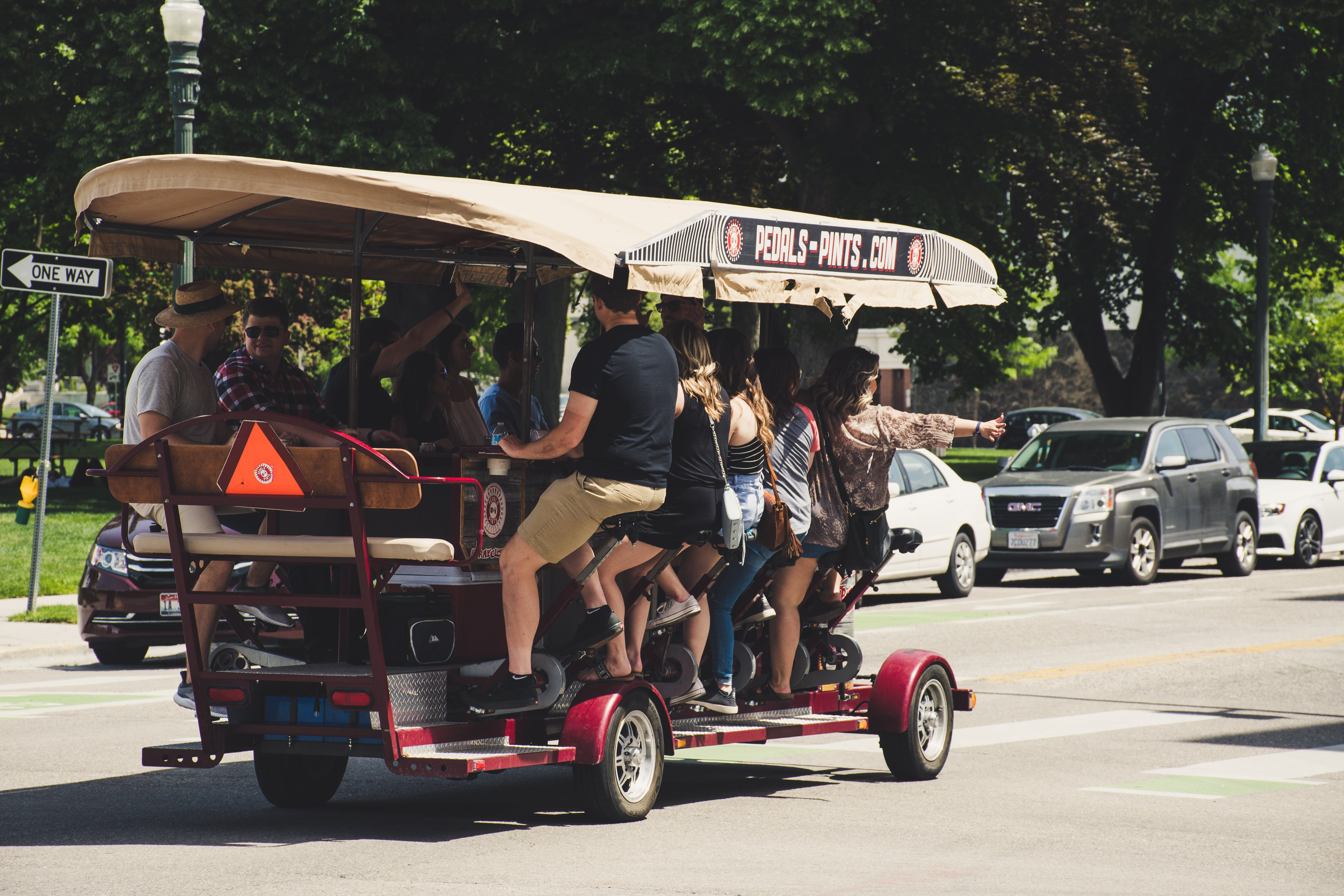 Photograph Of People Riding On Vehicle