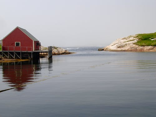 Free stock photo of dock, ocean, red