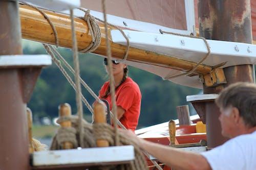 Základová fotografie zdarma na téma člun, holka, plavba