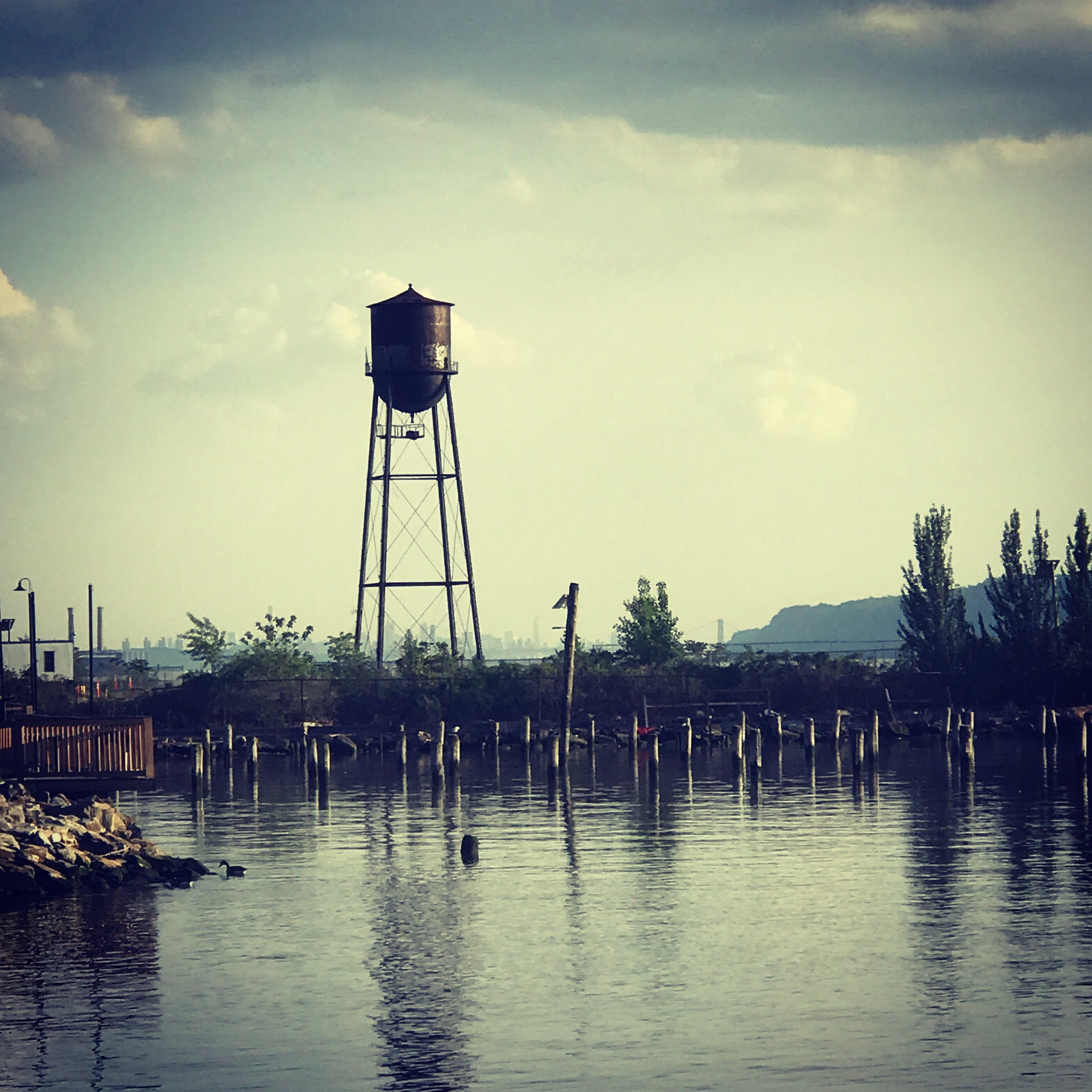 Free stock photo of river, water tower
