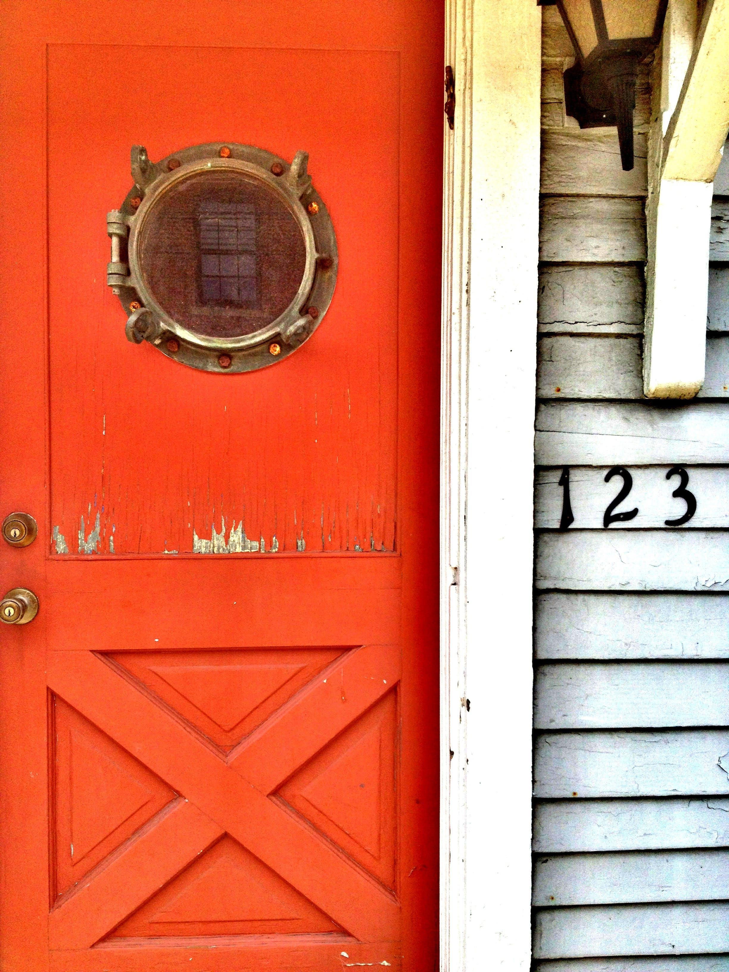 Free stock photo of door, nautical, red