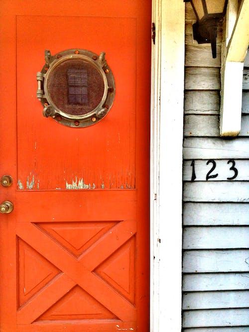 Základová fotografie zdarma na téma červená, dveře, námořní