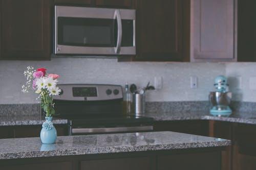 Photos gratuites de comptoir de cuisine, cuisine, granit, pièce