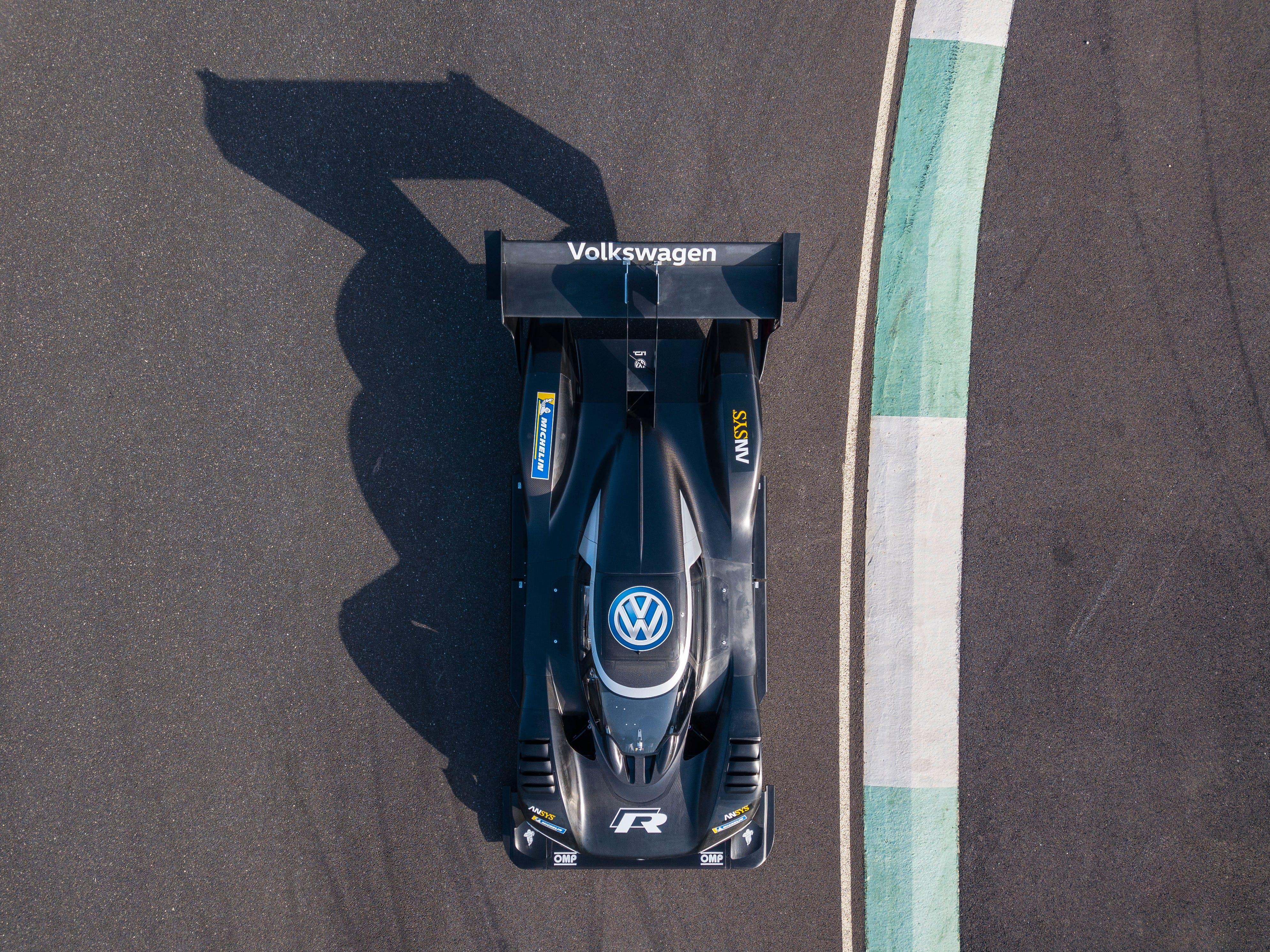 Black Volkswagen Race Car On Track