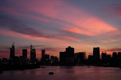 Free stock photo of city, cityscape, saigon, sunset
