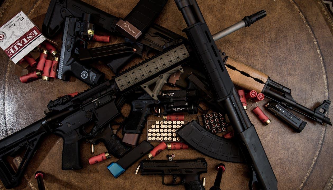 Free stock photo of ak47, AMO, bullets