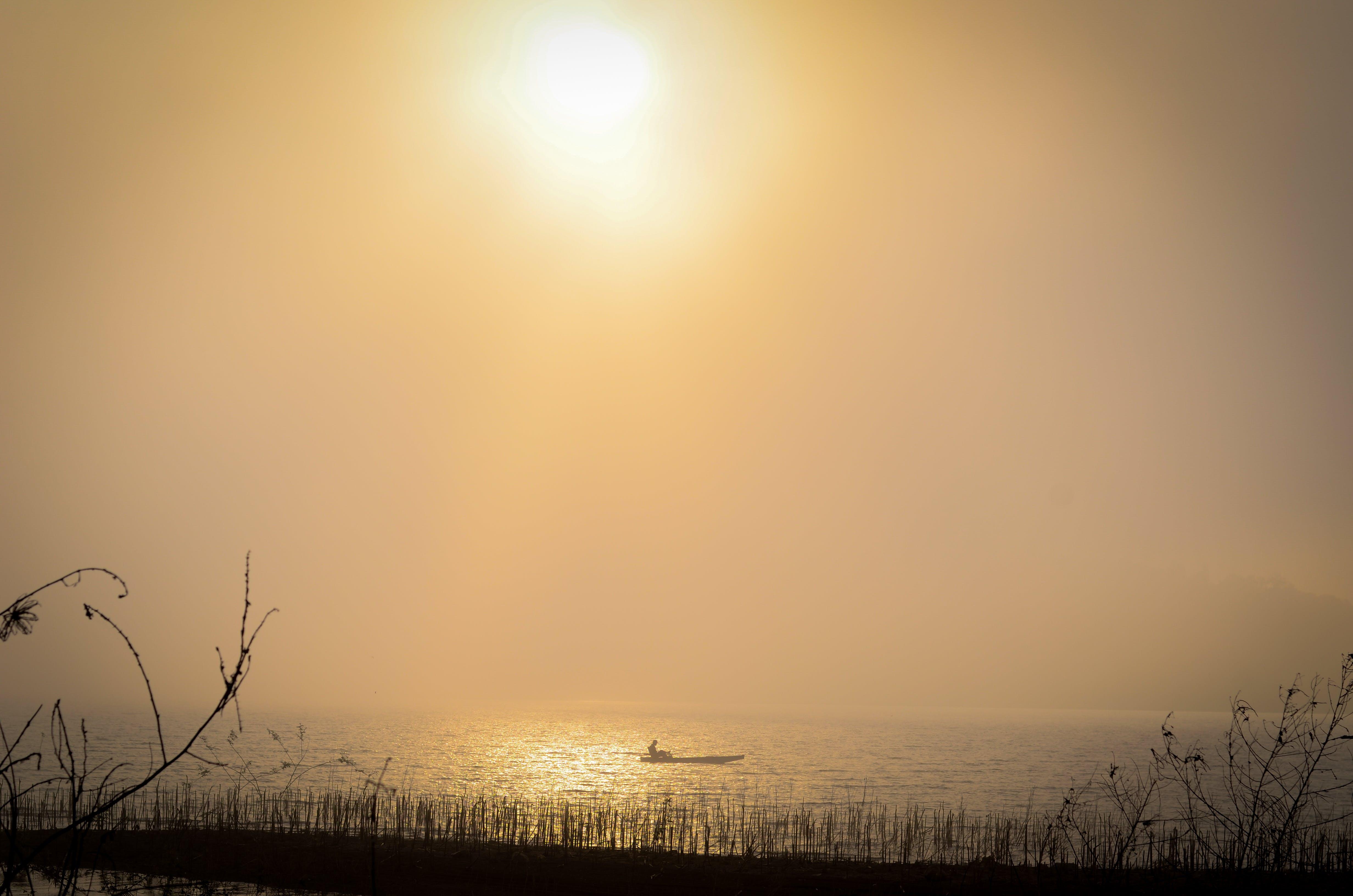 boat, dawn, early morning