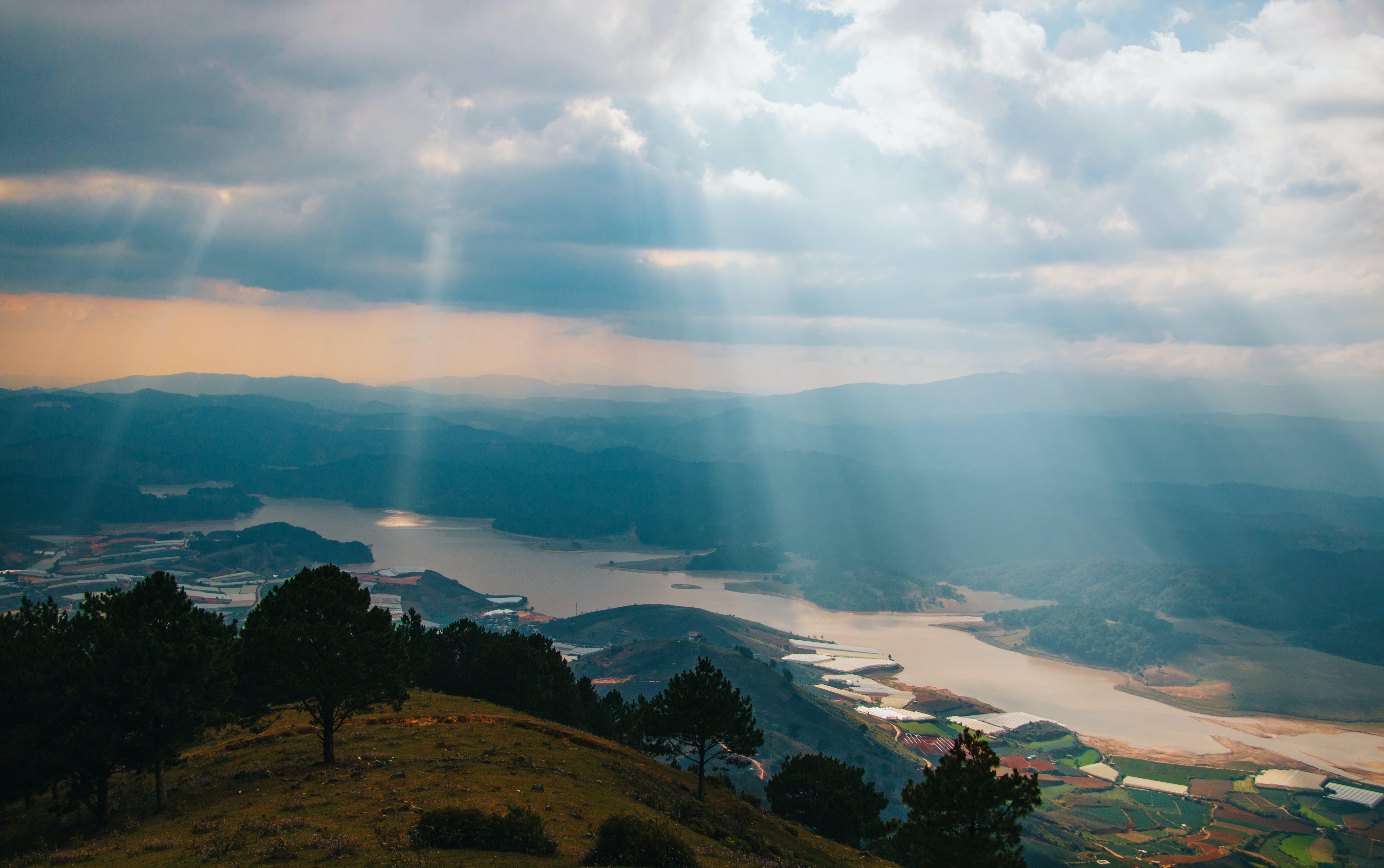 Foto stok gratis air, alam, awan, Fajar