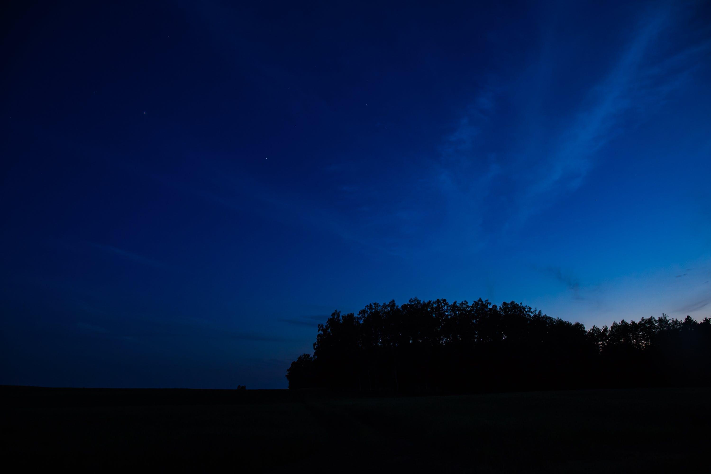 backlit, blue sky, clouds