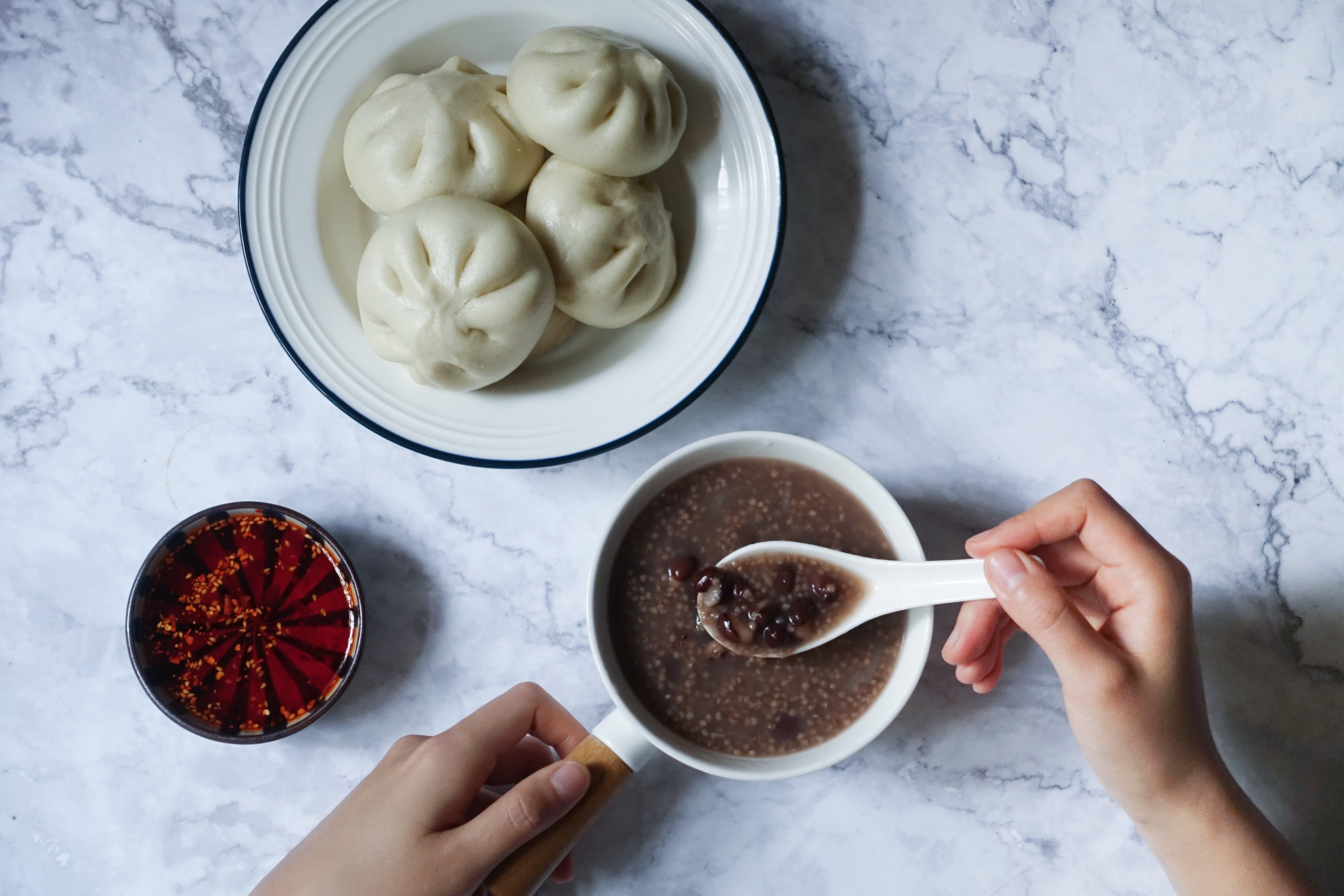 baozi, bulka, jídlo
