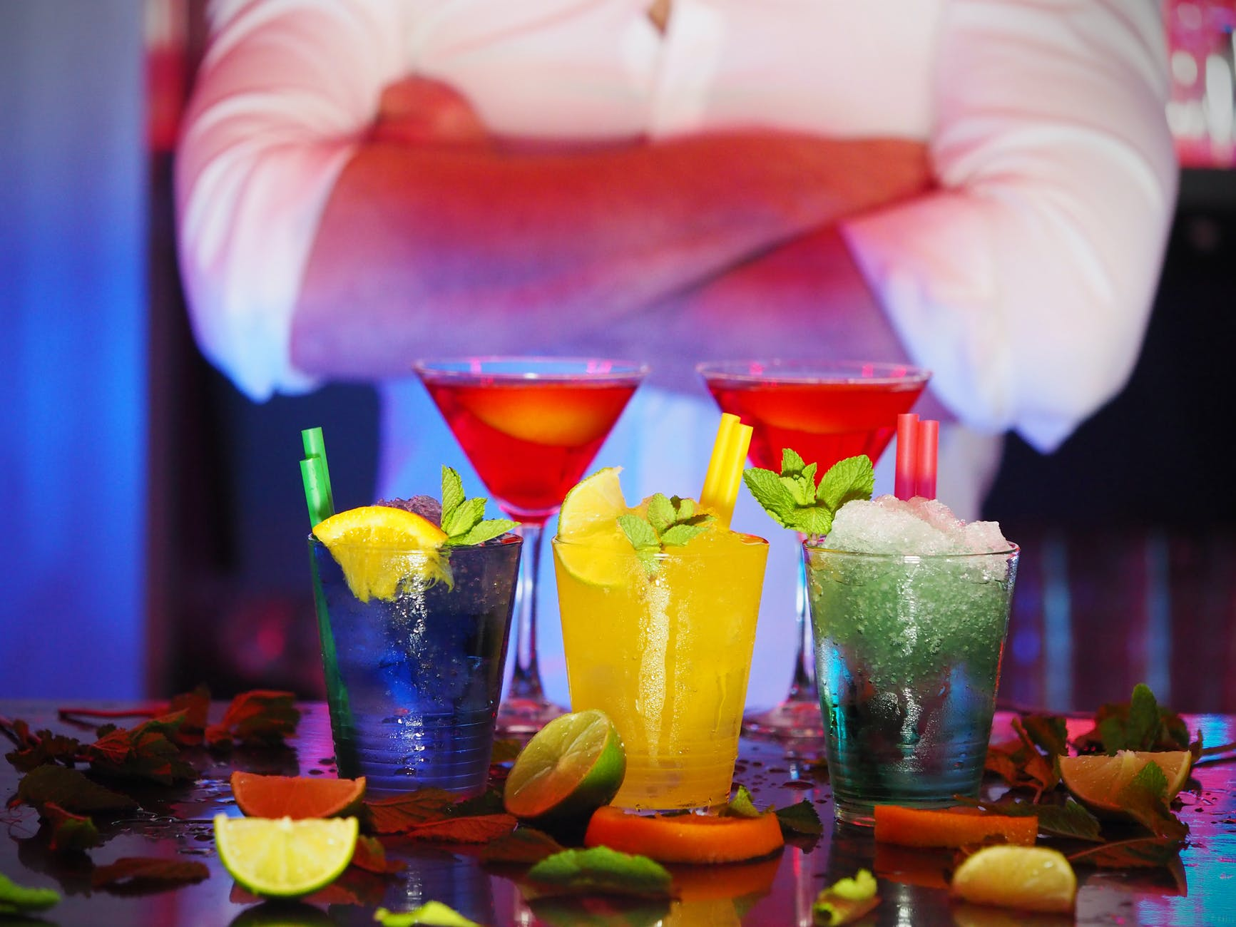 different kinds of cocktails