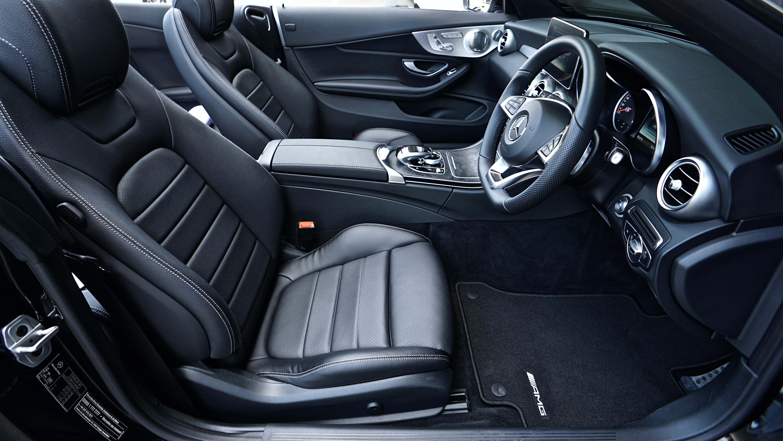 White Leather Car Bucket Seat Free Stock Photo