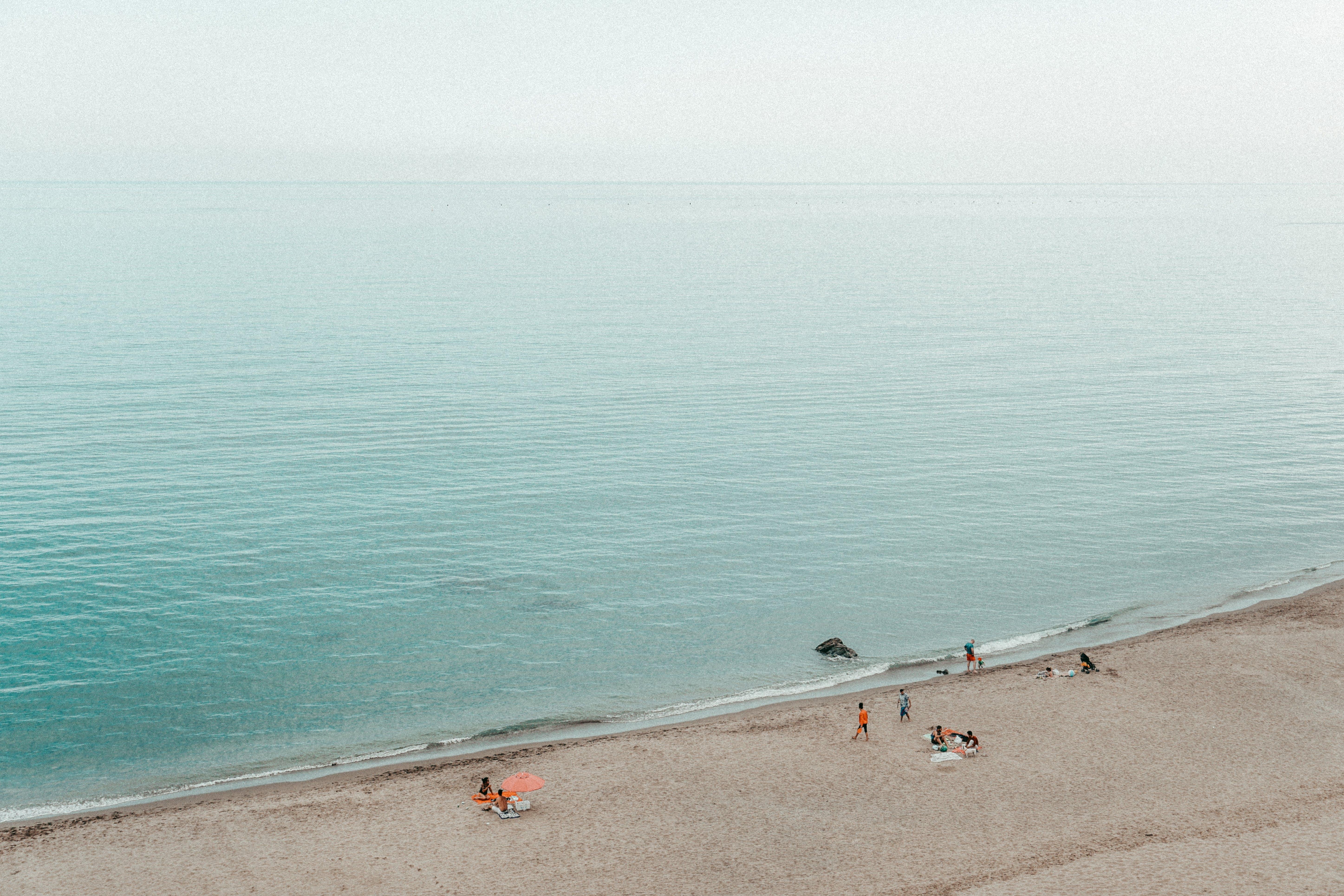 คลังภาพถ่ายฟรี ของ ขอบฟ้า, ชายทะเล, ชายหาด, ทราย