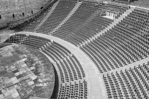 Free stock photo of amphitheatre, row, rows, seat
