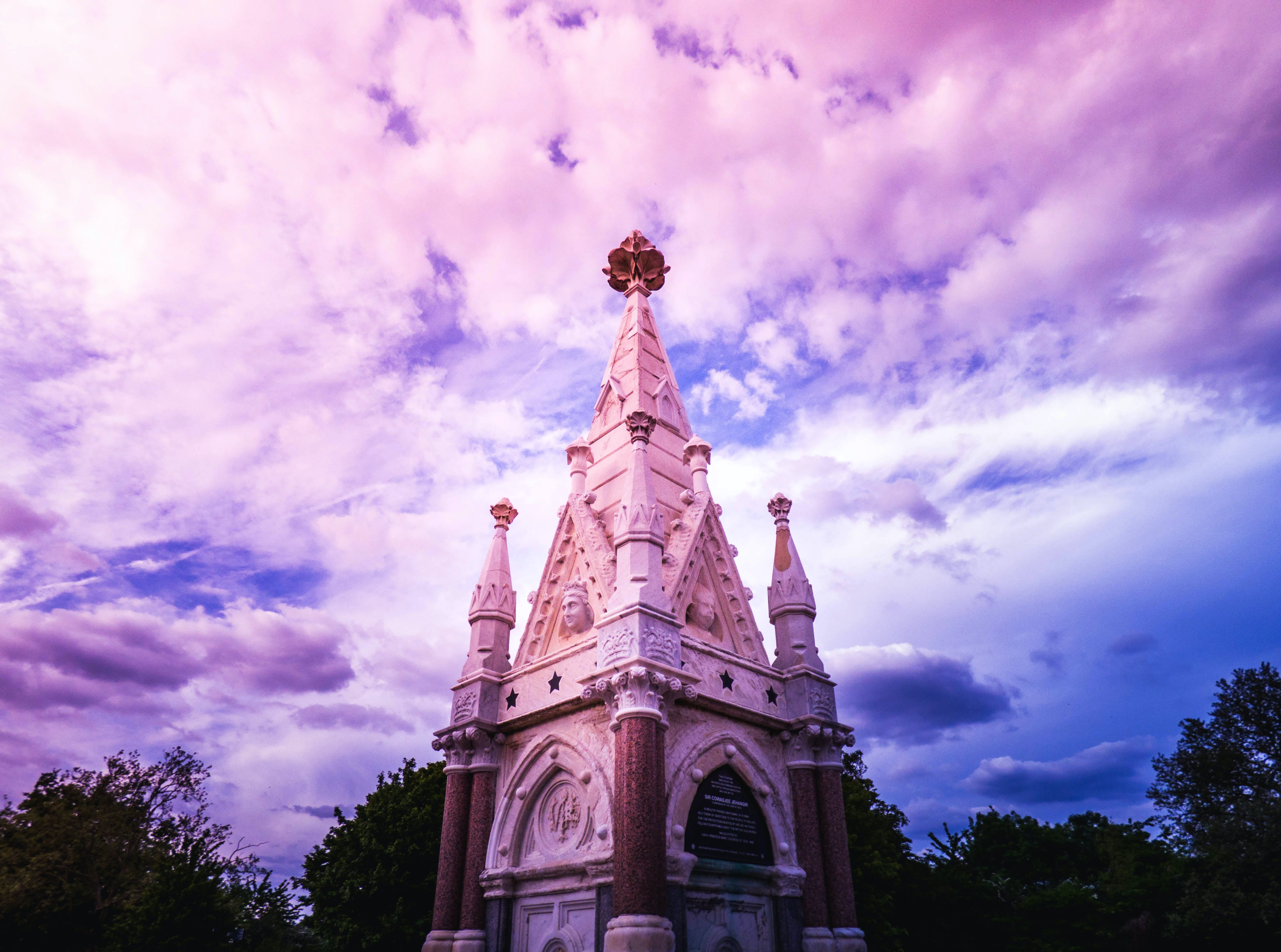 Low Angle Photography of White and Brown Temple