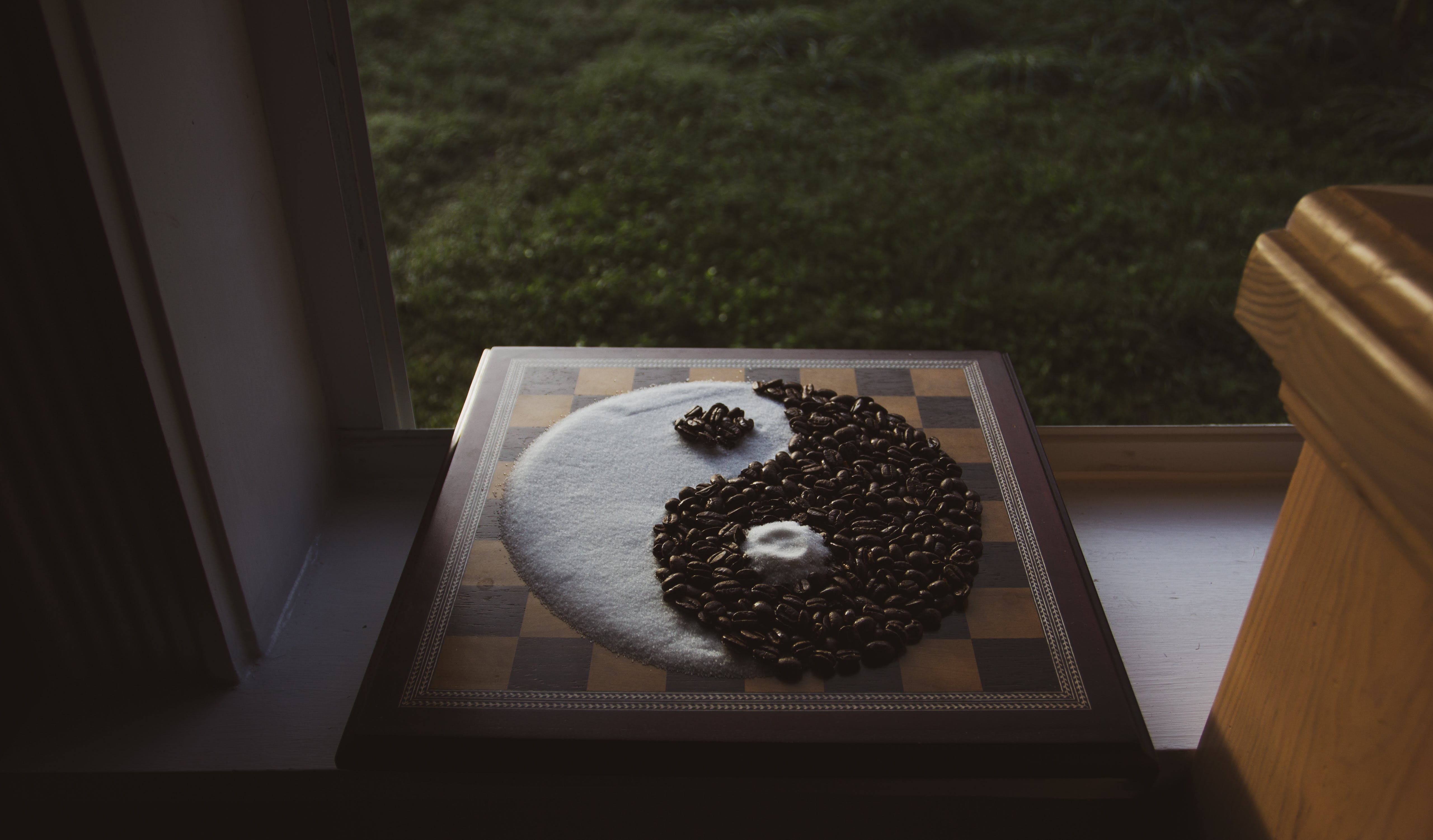Free stock photo of balance, coffee, dark, evil