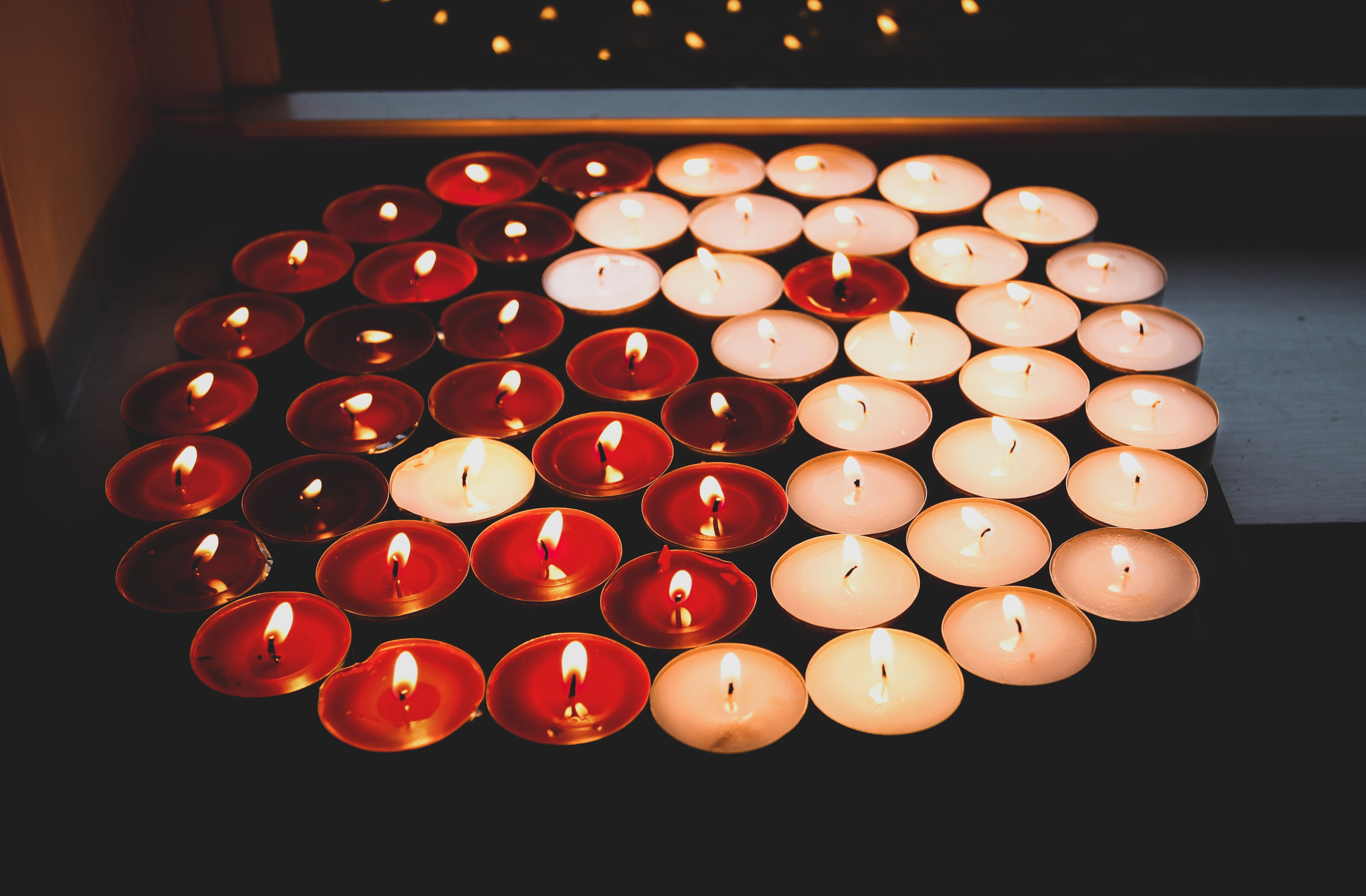 Free stock photo of balance, candles, good and evil, light and darkness