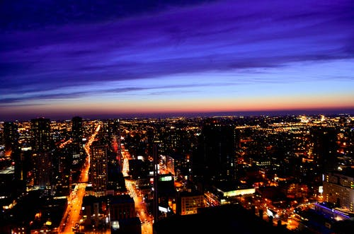 Δωρεάν στοκ φωτογραφιών με illinois, Αμερική, δύση του ηλίου, ζωή στην πόλη