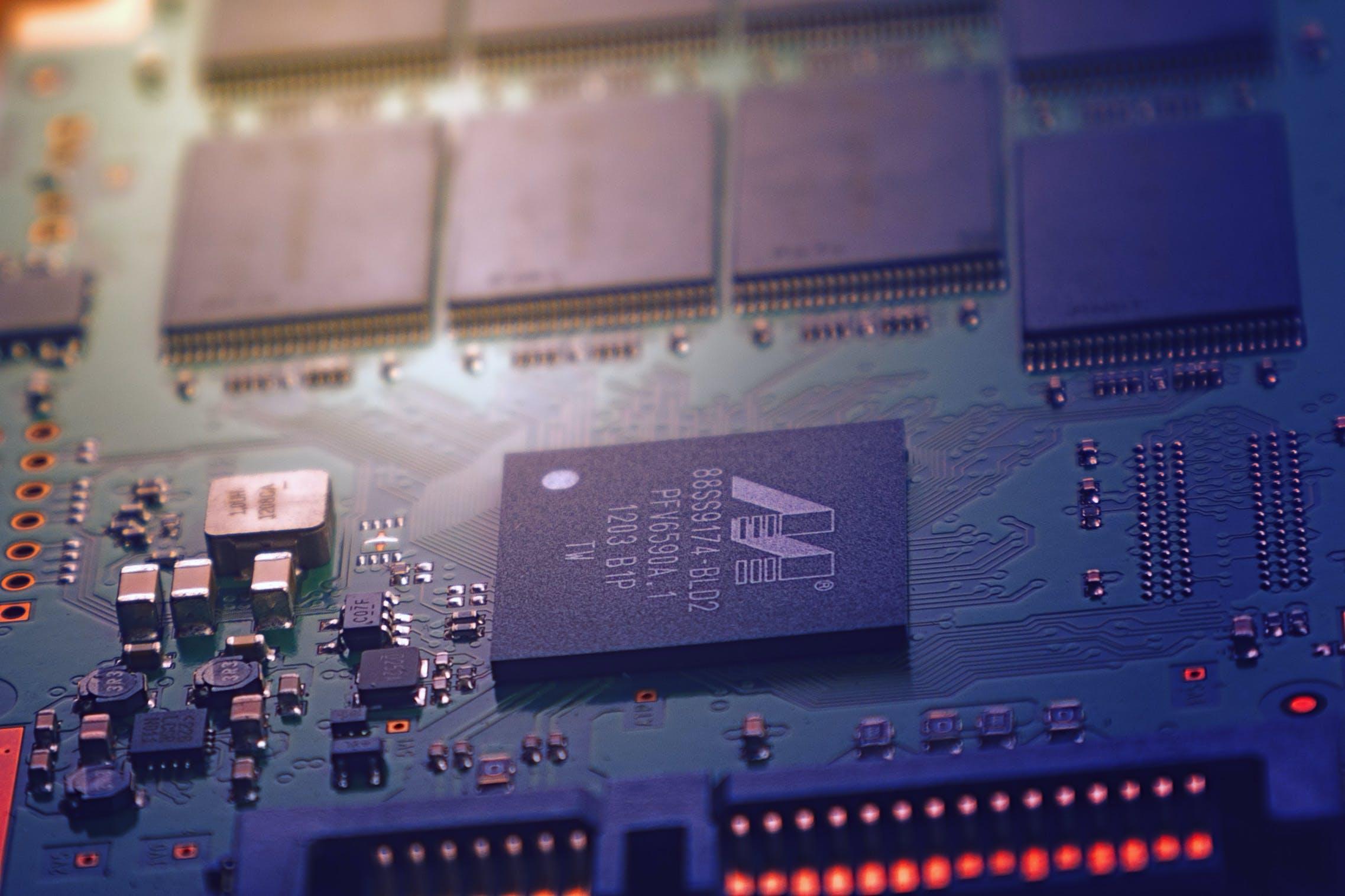 Photo of Green Circuit Board
