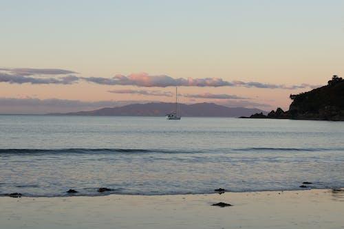 傍晚的太陽, 海 的 免費圖庫相片